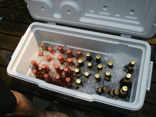 ice chest full of beer