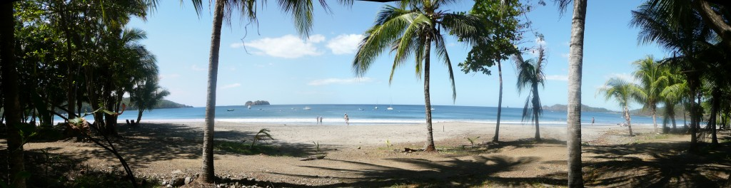 Playa Hermosa beachfront Panorama from Costa Rica Information