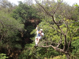 ziplining at Hacienda Guachipelin