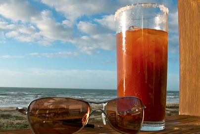 Beach Bloody Mary on the Beach