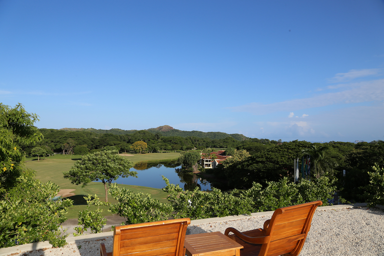 Patio overlooking the Reserva Conchal Golf Course