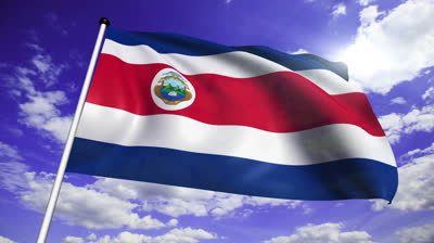 Costa Rica Independence day flag