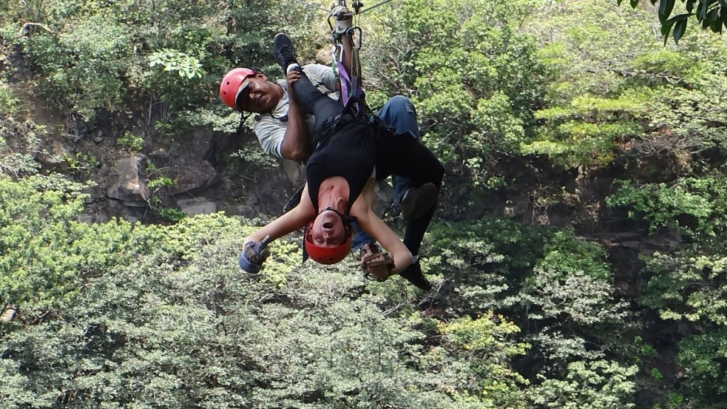 Zipline upside down