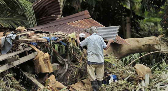 Damage caused by Costa Rica hurricane Otto
