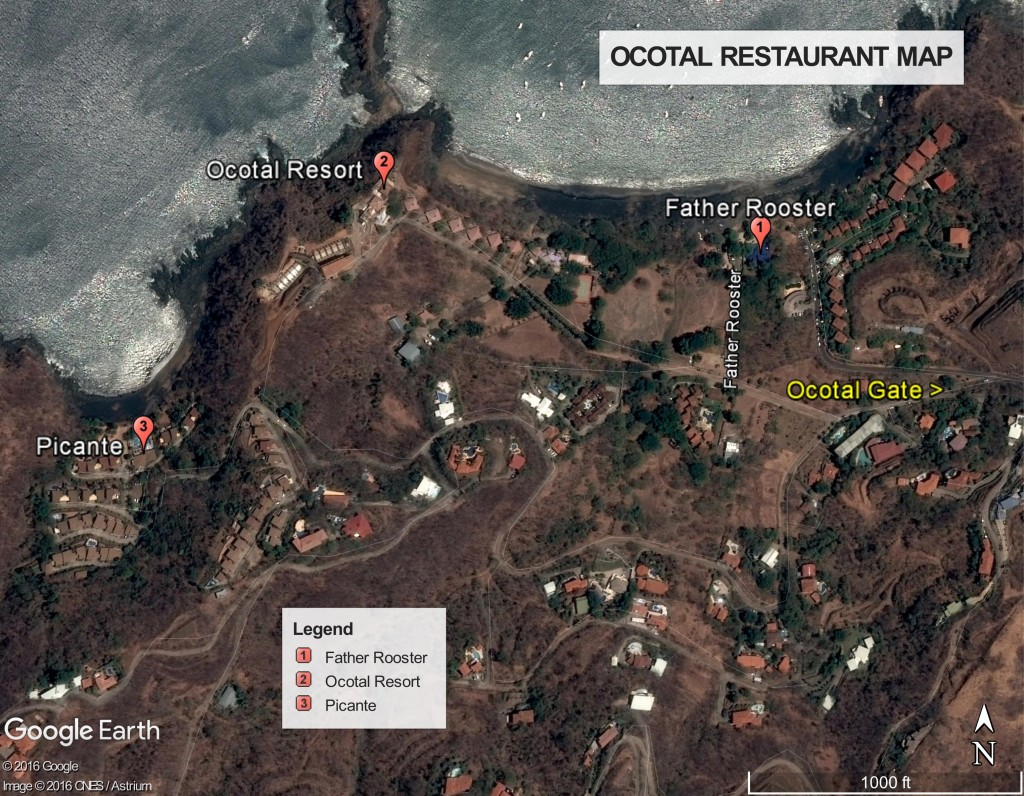 Ocotal Restaurant Map