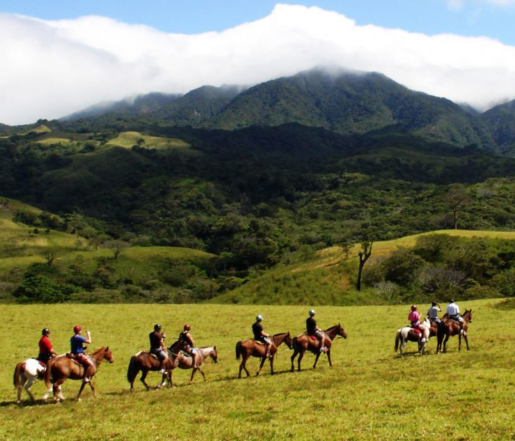 Group of horseback riders in Rincon de la Vieja Costa Rica