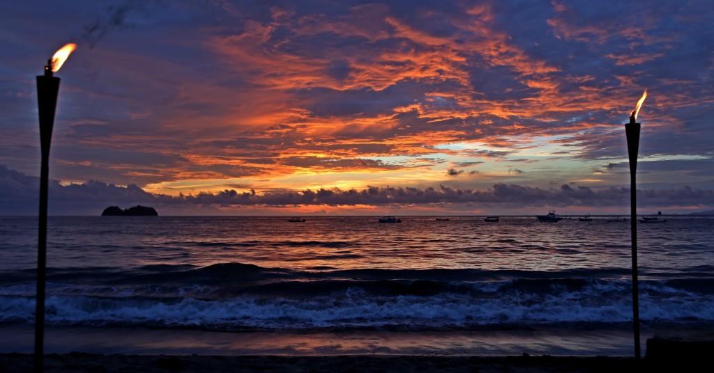 Sunset over Playa Hermosa Costa Rica