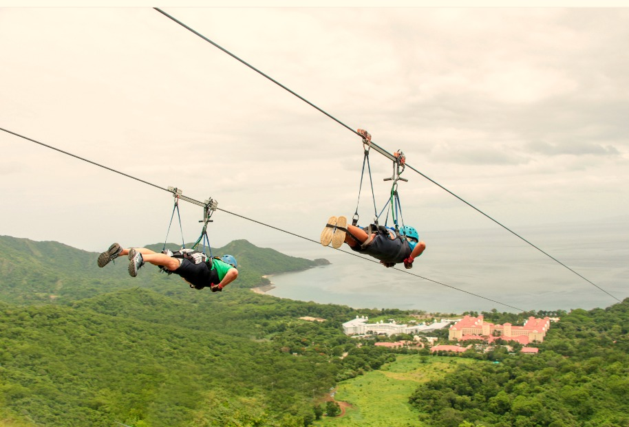 Ziplining at Diamante Eco Adventure Park