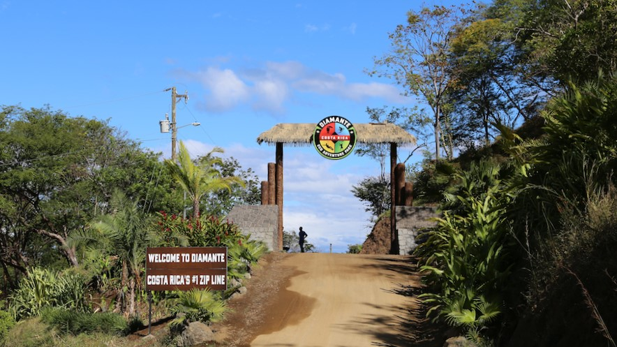 Entrance to Diamante Eco Adventure Park