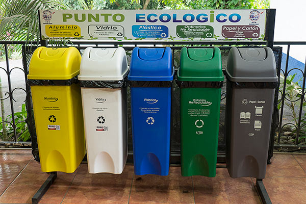 recycling bins help clean Costa Rica