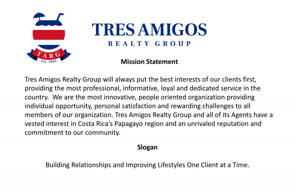 Tres Amigos Realty Group Mission Statement